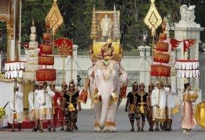 Kraljevska procesija, Tajland